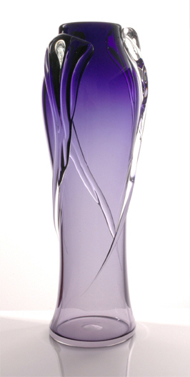 Cascade Vase (available in Purple & Teal) 25cm - $199 + GST, 30cm $359 + GST